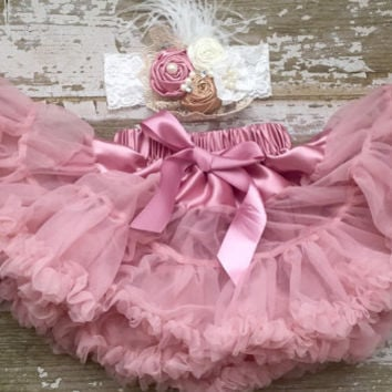 Pink chiffon pettiskirt, kids, petti skirt, Birthday dress, Blush, baby chiffon girls skirt, toddler, pink petti skirt, tulle skirt, chiffon
