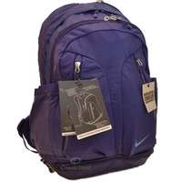 "Nike Backpack Purple Ultimatum Max Air 15"" Laptop Gear Women Girl School Bag New"