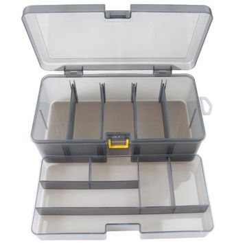 Dual Layer Fishing Tackle Box Plastic Portable pesca Lures Bait Storage Case Cover Organizer Container Accessories