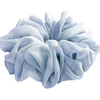 Airy Light Blue Large Chiffon Scrunchies Stylish Accessories Hair Band Ponytail Holder Teen Girls Women