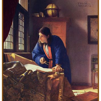 The Geographer by Johannes Vermeer Counted Cross Stitch or Counted Needlepoint Pattern