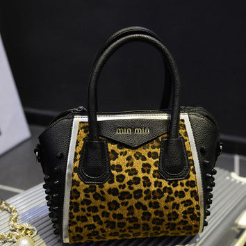Stylish Shoulder Bags Leopard Messenger Bags [6581806087]