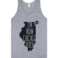 I'm From Chicago Bitch (tank)-Unisex Athletic Grey Tank