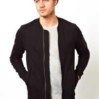 ASOS MA1 Bomber In Jersey With Pocket