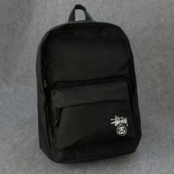 Stussy Fashion Women Men Sport Laptop Bag Double Shoulder School Bag Backpack