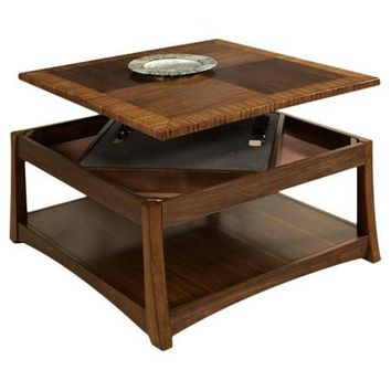 Andover Coffee Table with Dual Lift-Top and storage