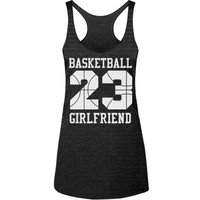 Trendy Basketball Girlfriend Racerback Tank Top you can personalize!