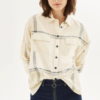 Gingham Stripe Shirt - Tops - Clothing