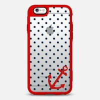 Classic Nautical Polka Dot Transparent iPhone 6s case by Organic Saturation | Casetify