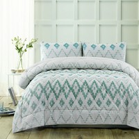 3 Piece Tribal Green Comforter Set by Accessorize