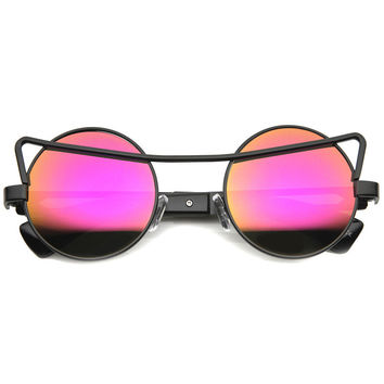 ALANI RETRO MIRRORED SUNGLASSES