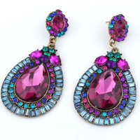 Sexy Club Alloy Earring Water Droplets Jewelry [6043216129]