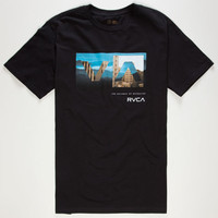 Rvca Cover Box Mens T-Shirt Black  In Sizes