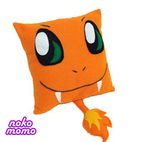 Charmander Inspired Pillow - with a tail