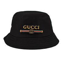 GUCCI Popular Women Men Embroidery Shade Sunhat Fisherman Hat Cap