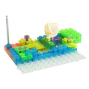 Circuit Kit With Lighted Bricks (44pcs), 120 Different Projects in 1, Educational Toy by Pantheon
