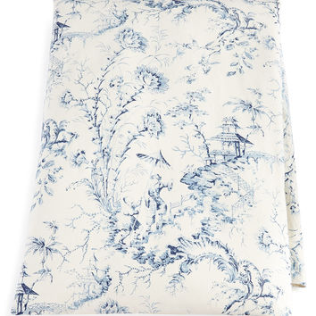 """Queen Pagoda Toile Duvet Cover, 90"""" x 95"""" - Sherry Kline Home Collection"""
