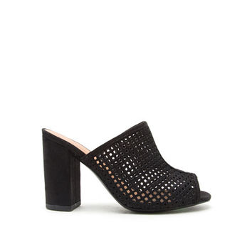 Qupid Chester 48 Perforated Mule Sandal - JCPenney