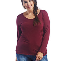 Long Sleeve Basic Top | Wet Seal+