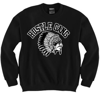 Hustle Gang Unisex Crewneck Funny and Music