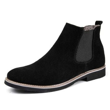 Chelsea Boots For Men British Style Suede Leather Ankle Boots