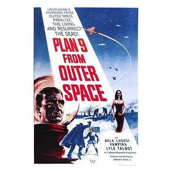 Plan 9 From Outer Space Movie poster Metal Sign Wall Art 8in x 12in