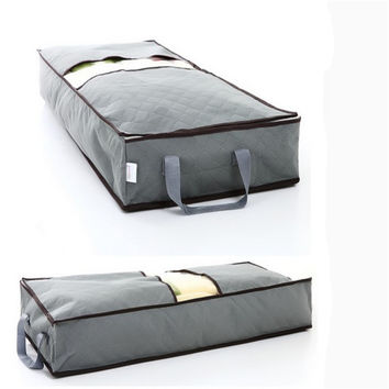 New 70L Non-woven Storage Bag Home Save Space Organizader Underbed Closet Storage Box Clothes Boxes Clothing Bag G125-A