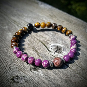 Naturally purple bracelet