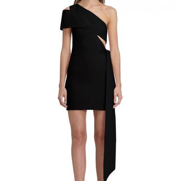 AQ/AQ Lolita One Shoulder Mini Dress with Cut-Out Detail and Side Panel · Black ·