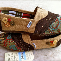 Custom Fabric upholstered Toms by FlavorfulFish on Etsy