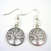 Silver Tree of Life Earrings/Tree of Life Earrings/Silver Tree Earrings/Celtic Earrings/Wiccan Earrings/925 Sterling Silver