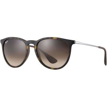 Ray Ban Erika Sunglasses Tortoise with Brown Gradient Lenses