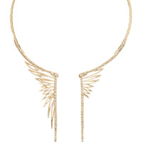 CristinaOrtiz - 9-karat rose gold diamond wing necklace