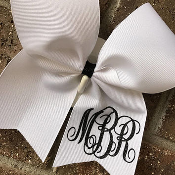 Cheer bow, monogram cheer bow - CHOICE OF COLORS