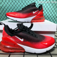 hcxx a Nike Air Max 270 Net Surface 51SHLS12 Running Shoes Black Red