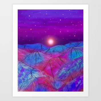 Lines in the mountains XXII Art Print by Viviana Gonzalez
