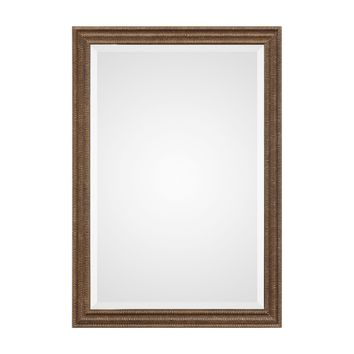 Rydal Transitional Distressed Bronze Framed Wall Mirror by Uttermost