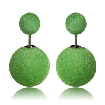 Gum Tee Mise en Style Tribal Earrings - Velvet Green