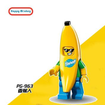 Single Sale Banana guy Building Blocks Super hero Ninjago Star Wars Batman Brick Figures Compatible LegoINGly kids TOYS zk35