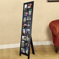 Furnistar Black Wood Floor-Standing Easel Picture Photo Frame
