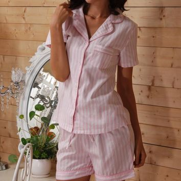 plus size 100% Cotton summer casual pajamas for women, homewear, Sleepwear, Pajama Sets  VD