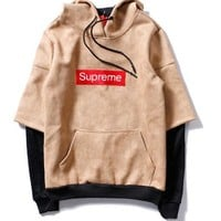 Women/Man Hot Sale Autumn Fashion Supreme Hooded Sweater