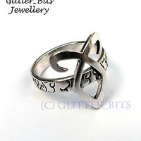 MORTAL INSTRUMENTS ANGELIC RUNE RING ENKELI SHADOWHUNTER JACE CLARY JONATHAN