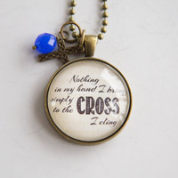 Rock of Ages Necklace - Hymn Text Jewelry - Inspirational Jewelry - Custom Jewelry -  Music Pendant - Church Music Necklace - Christian