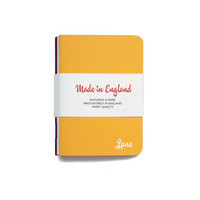 Lane Notebooks - mixed colours (pack of three - light blue, claret, yellow)