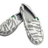 I'm Game Zebra Slip-On Shoes
