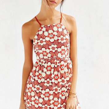 Cooperative Daisy Lace High-Neck Dress - Urban Outfitters