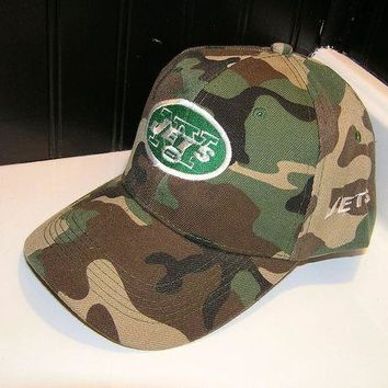 DCCKUG3 Brand new New York Jets adjustable camo baseball hat cap football OSFA