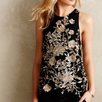 Golden Flowervine Tank by Sunday in Brooklyn Black