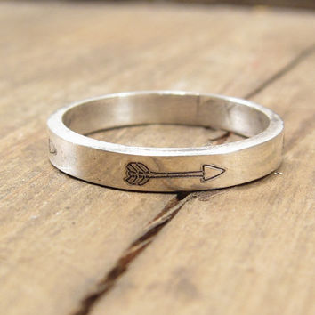 Silver Arrow Ring - Sterling Silver Jewelry